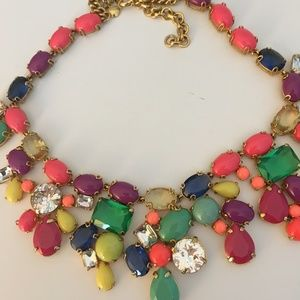 Multi-Stone Necklace with Green & Coral Stones
